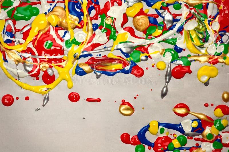 泼溅物油漆背景 免版税库存图片