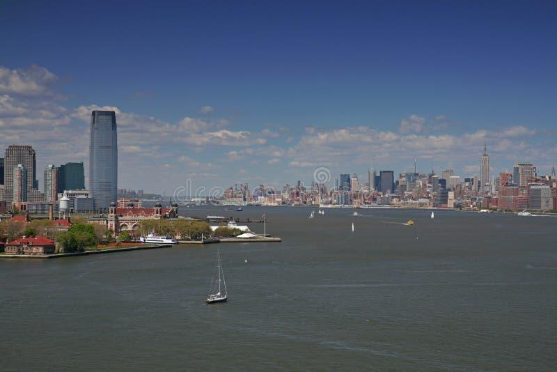 泽西曼哈顿地平线 库存图片