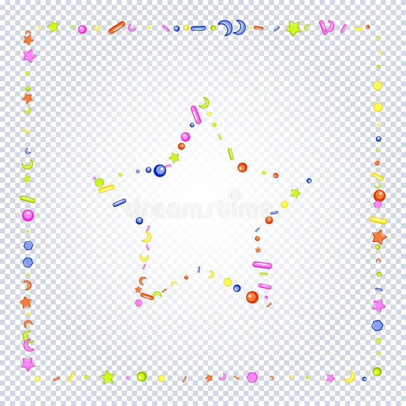 洒在透明背景的粒状框架 皇族释放例证
