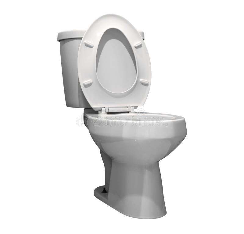 洗手间与裁减路线的被隔绝的白色背景 休息室Th 免版税库存照片