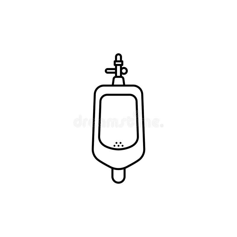 洗手间人尿壶概述象 向量例证