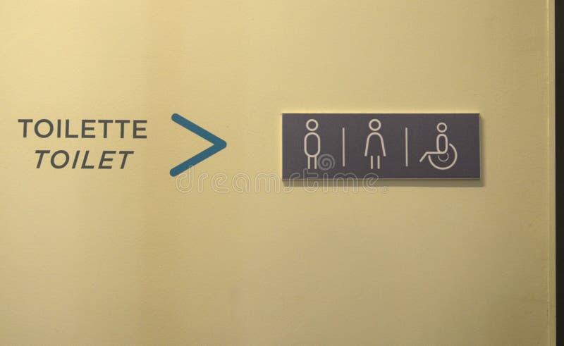 洗手间的征兆 免版税库存图片