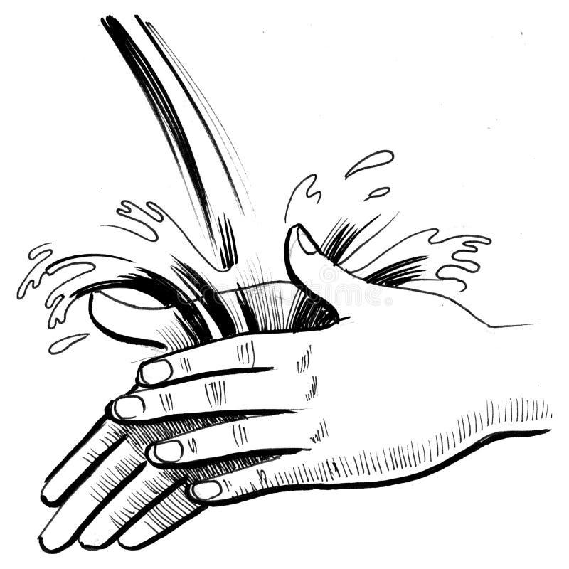 洗涤您手 向量例证