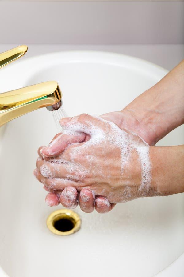 洗涤的手概念 免版税图库摄影