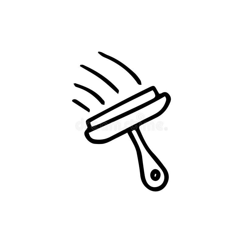 洗涤的窗口象的手拉的乱画刷子 手拉的blac 库存例证