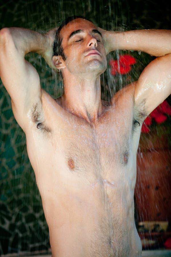 洗澡的人 图库摄影