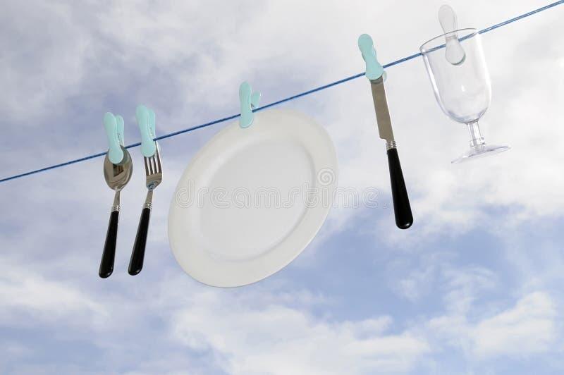 洗碗机eco友好雨 库存图片