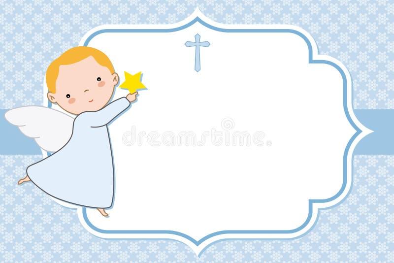 洗礼仪式或圣餐卡片 皇族释放例证