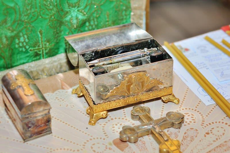 洗礼仪式的辅助部件 免版税图库摄影