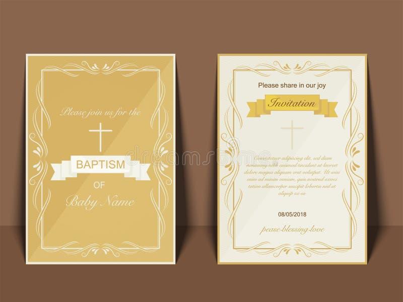 洗礼邀请卡片设计 皇族释放例证