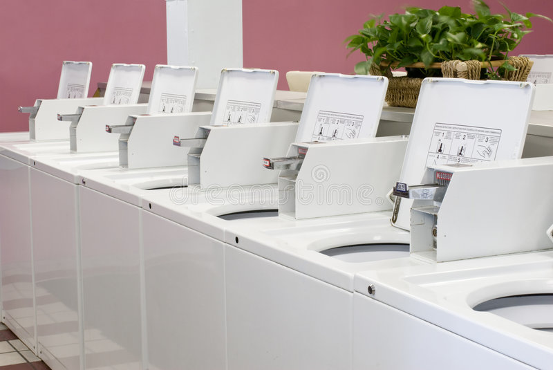 洗衣店洗衣机 免版税库存照片