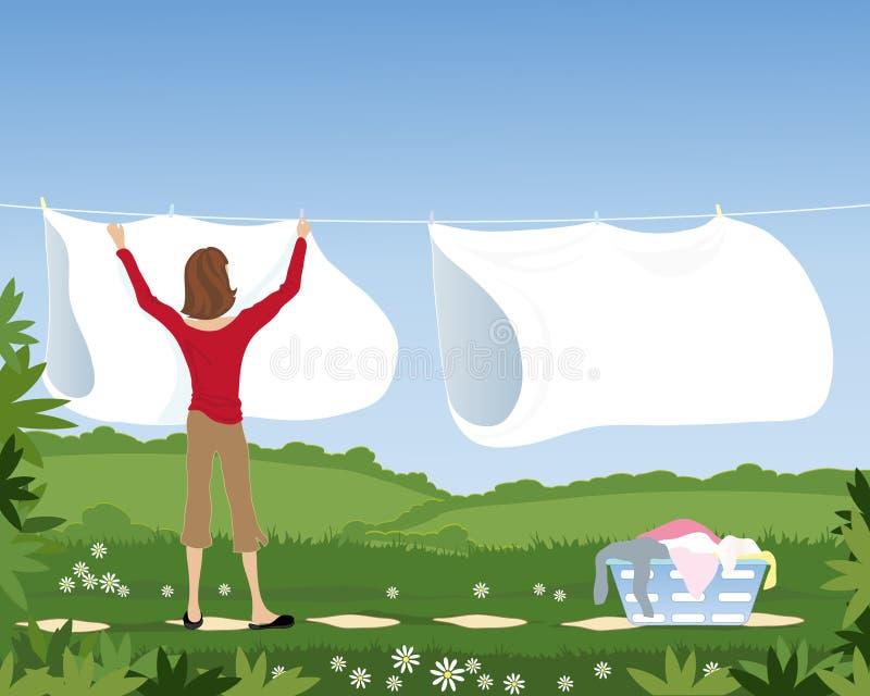 洗衣店线路 皇族释放例证