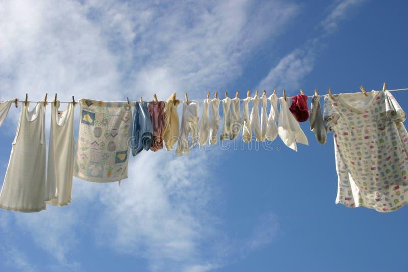 洗衣店线路 图库摄影