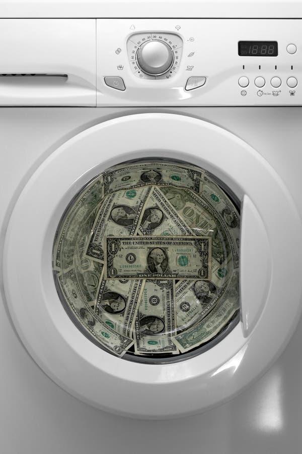 洗衣店货币 库存图片