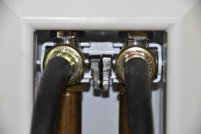 洗衣机水管连接 库存照片