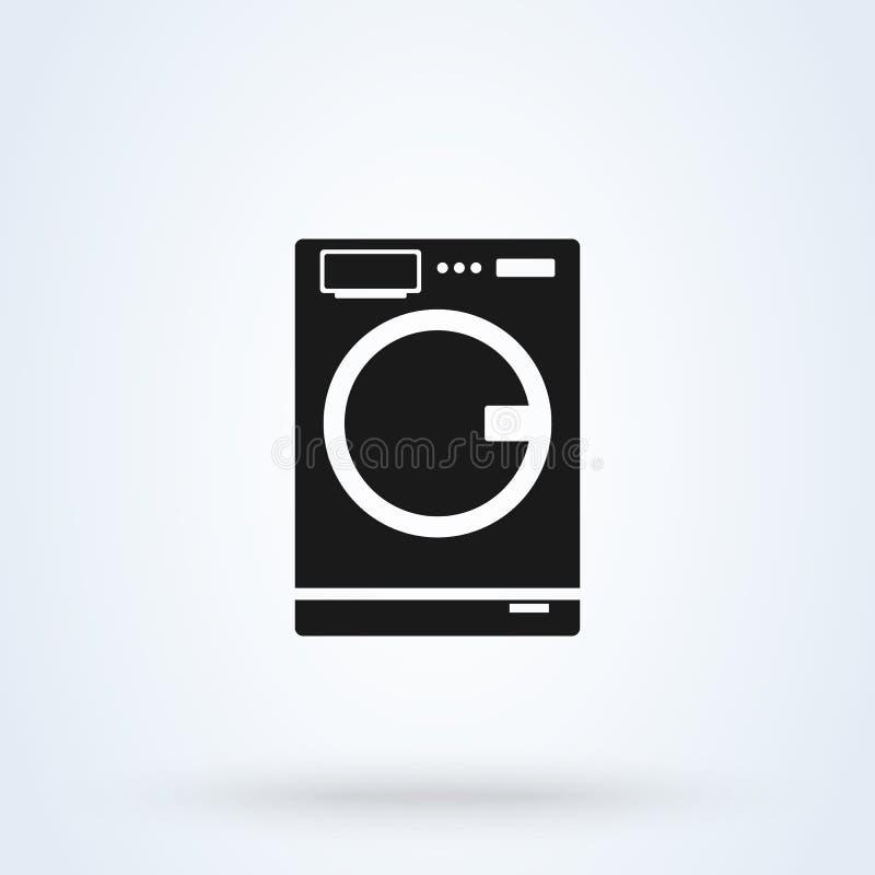 洗衣机舱内甲板 简单的传染媒介现代象设计例证 库存例证