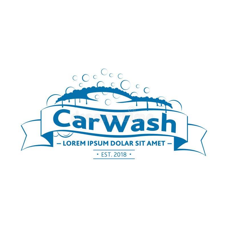 洗车商标设计 传染媒介和例证 向量例证
