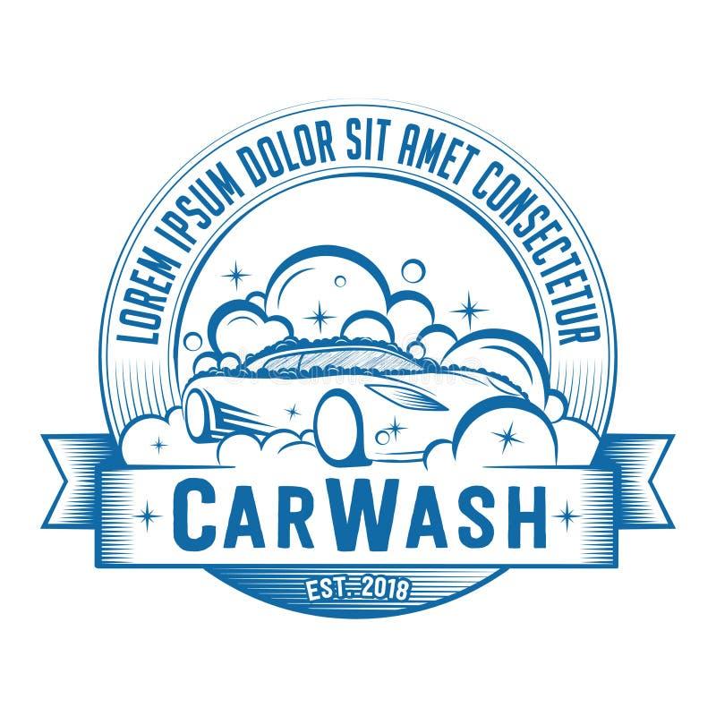 洗车商标 传染媒介和例证 向量例证