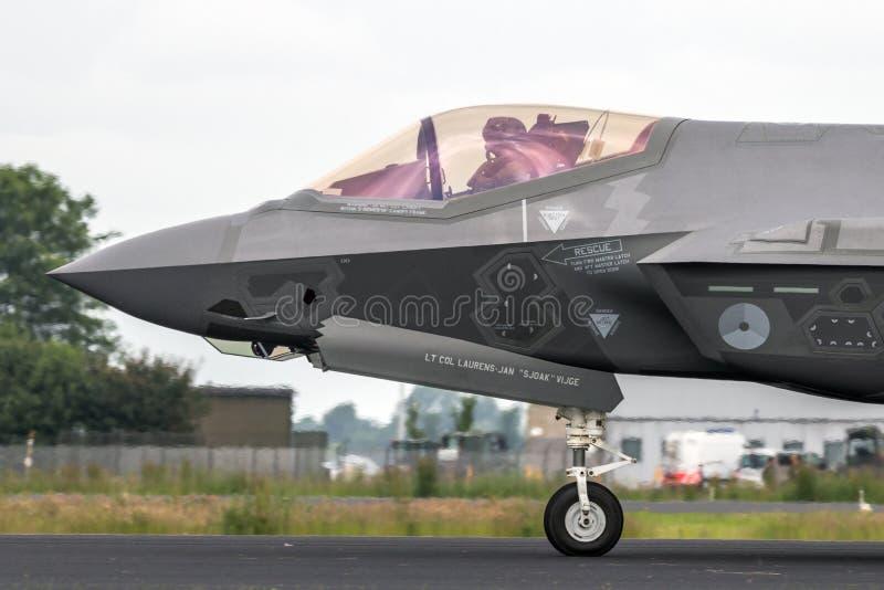 洛克希德马丁F-35闪电III喷气式歼击机 免版税库存照片
