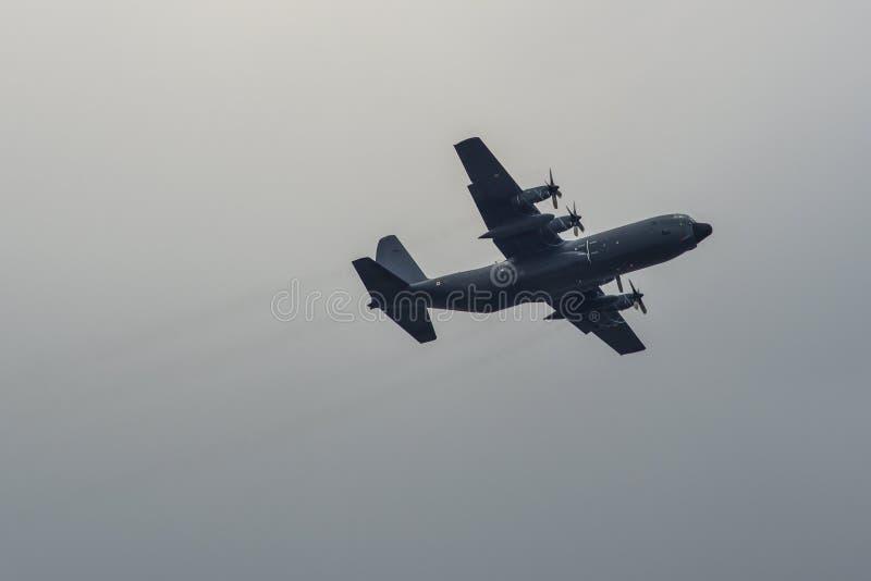洛克希德C-130H-30赫拉克勒斯飞机 库存图片