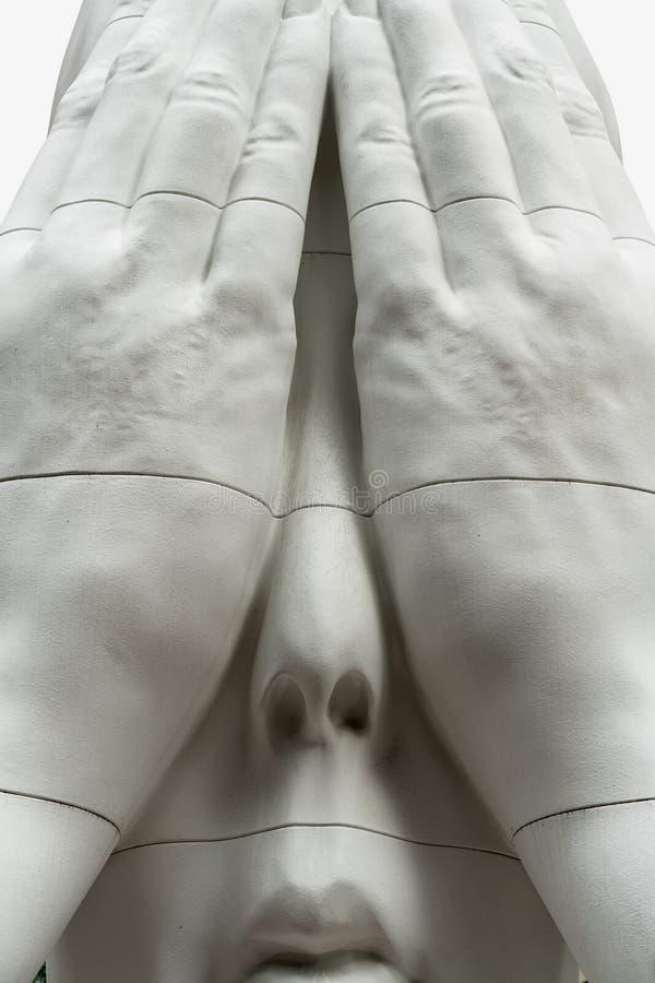 洛克菲勒广场,在墙壁后的带状装饰雕塑 免版税库存图片