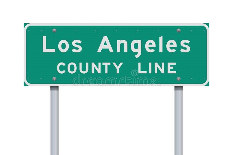 洛杉矶县线路标 图库摄影