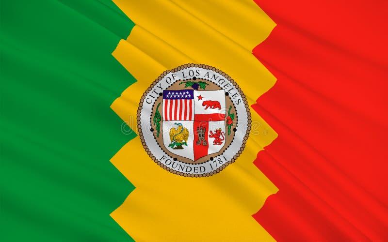 洛杉矶市,加利福尼亚,美国旗子  库存例证