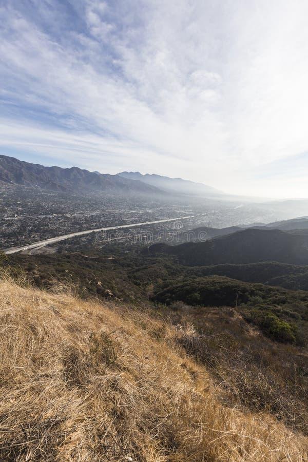 洛杉矶早晨谷视图 免版税库存照片