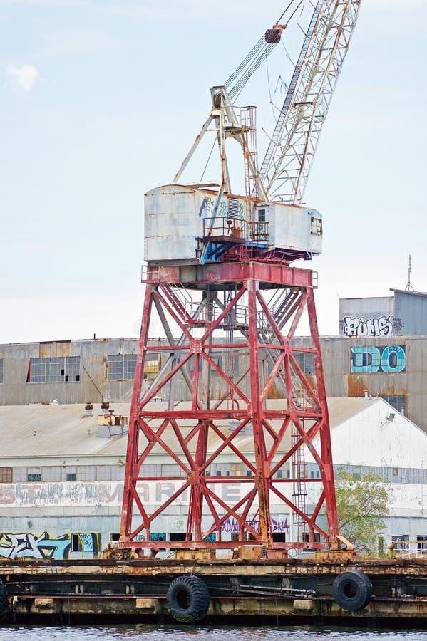 洛杉矶港口起重机 库存图片