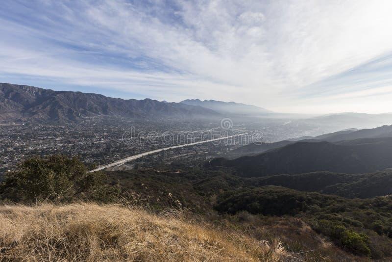 洛杉矶郡加利福尼亚早晨谷视图 免版税图库摄影
