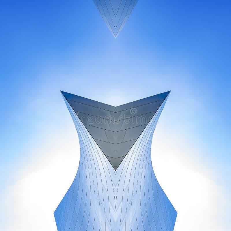 洛杉矶音乐厅大厦被做成形状 皇族释放例证