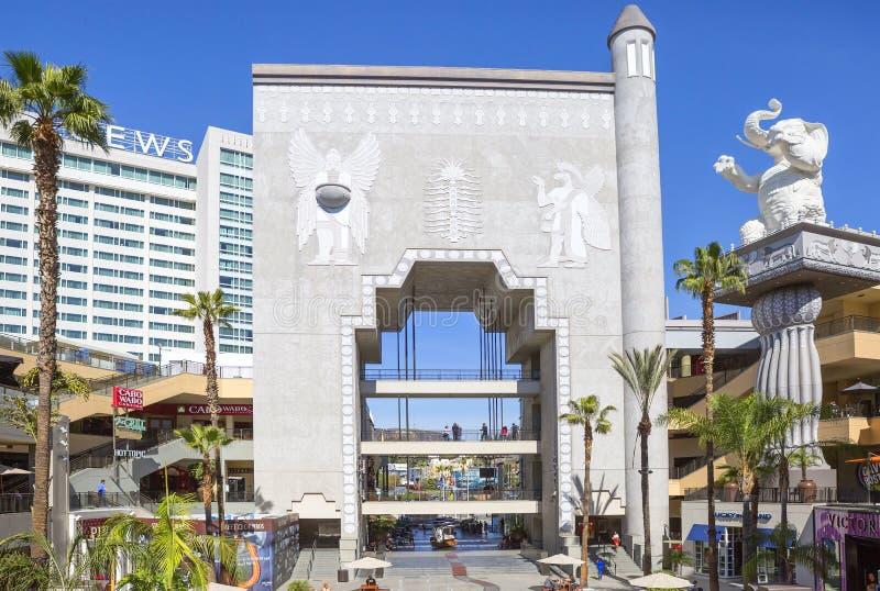 洛杉矶,杜比剧院的露台 免版税库存图片