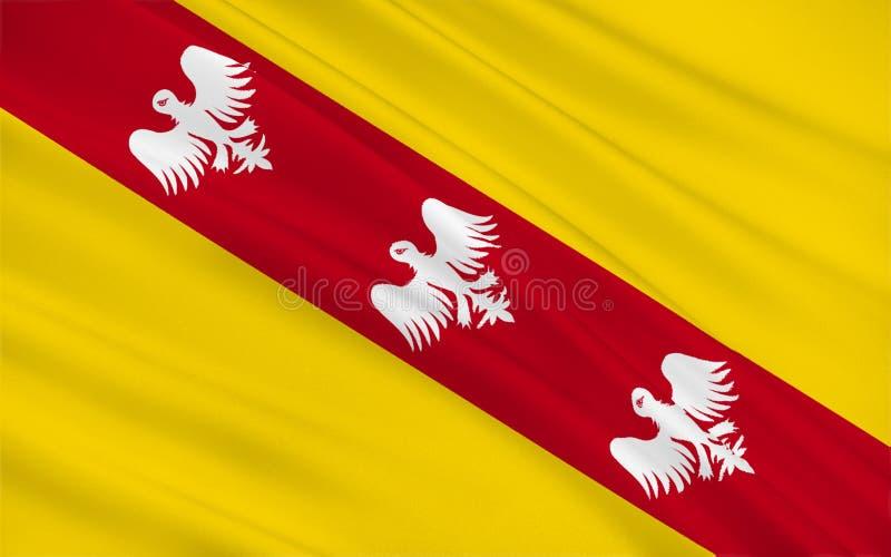 洛林,法国的旗子 库存例证