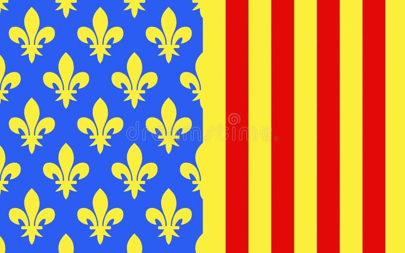 洛泽尔省,法国旗子  库存照片
