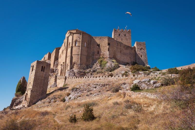 洛阿雷城堡在韦斯卡省,阿拉贡,西班牙 免版税库存照片