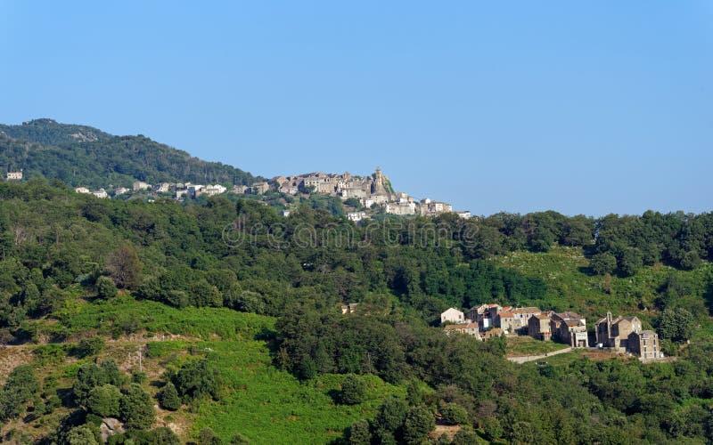 洛雷托省在科西嘉山的di Casinca 免版税库存照片