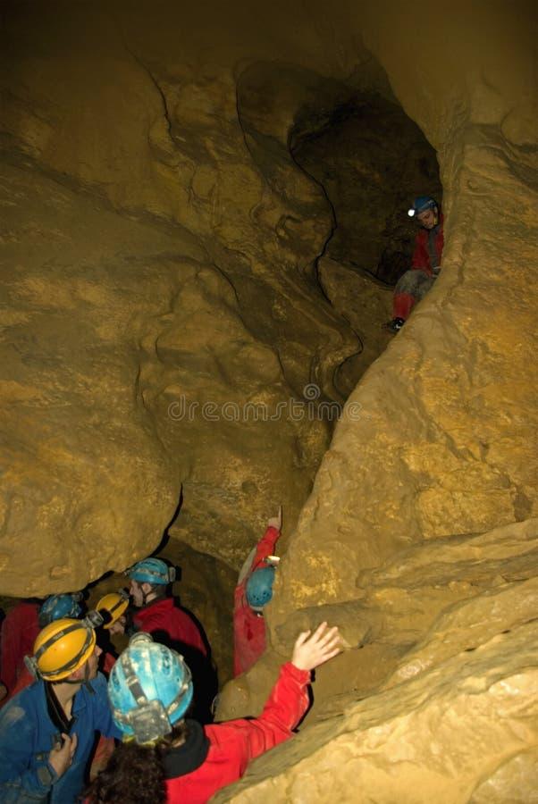 洞业余性质的洞窟探勘者 皇族释放例证