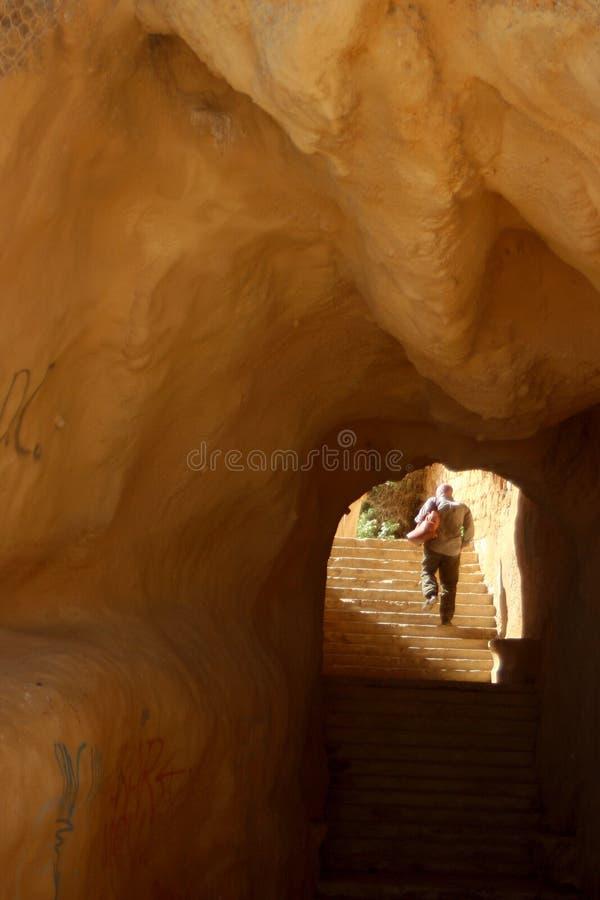 洞台阶 图库摄影