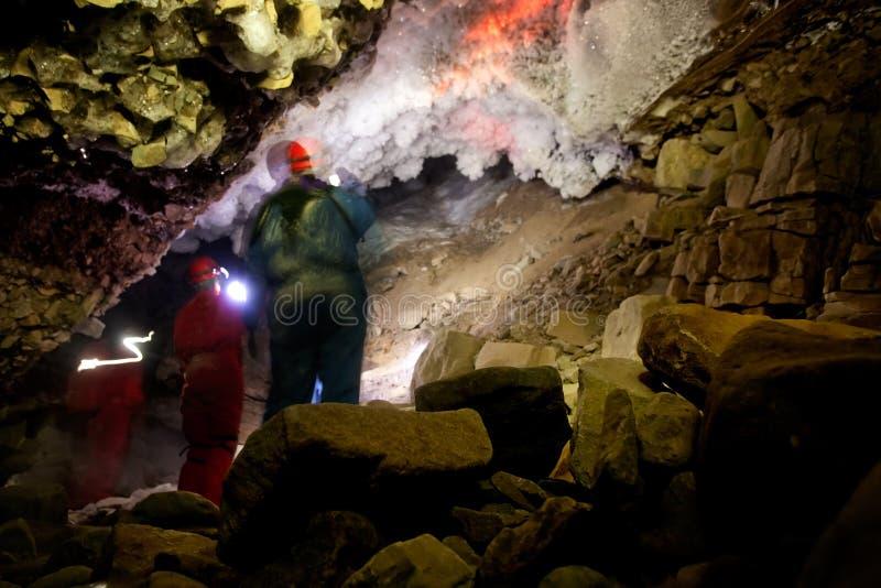 洞探险 库存照片