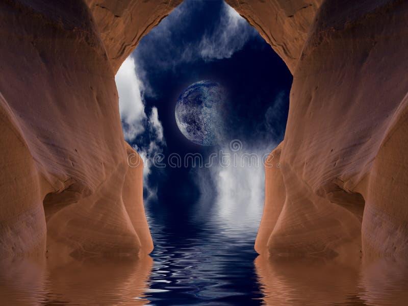 洞沙漠 库存照片