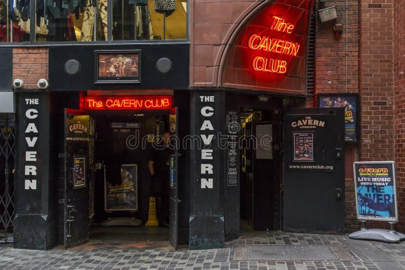 洞穴俱乐部,利物浦 库存图片