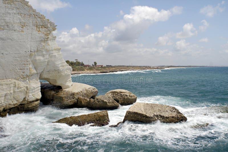 洞穴hanikra rosh 图库摄影
