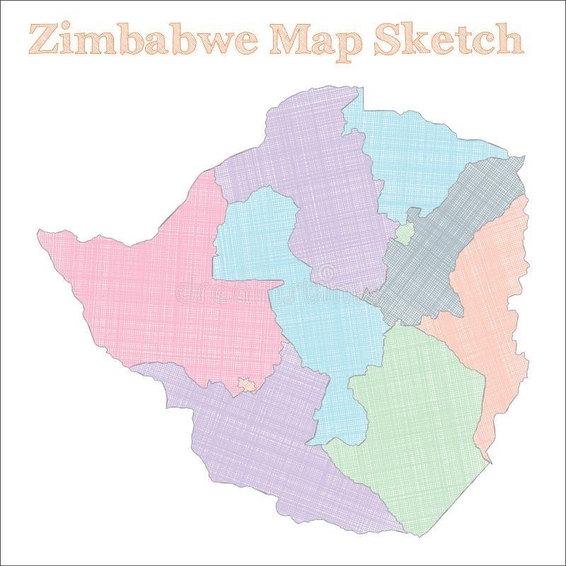 津巴布韦地图 皇族释放例证
