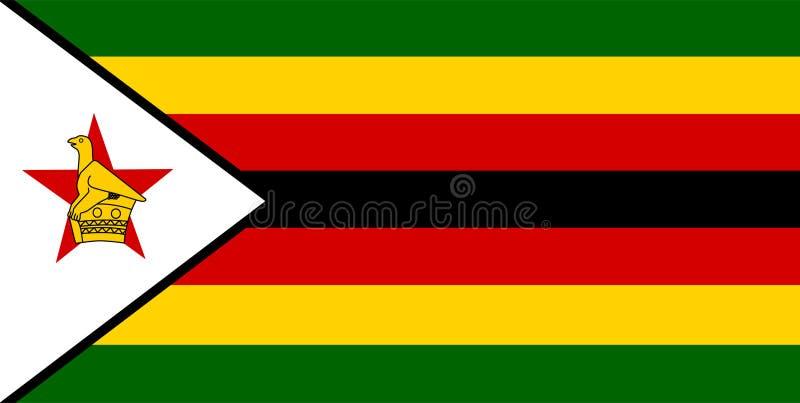 津巴布韦旗子传染媒介 津巴布韦旗子的例证 向量例证