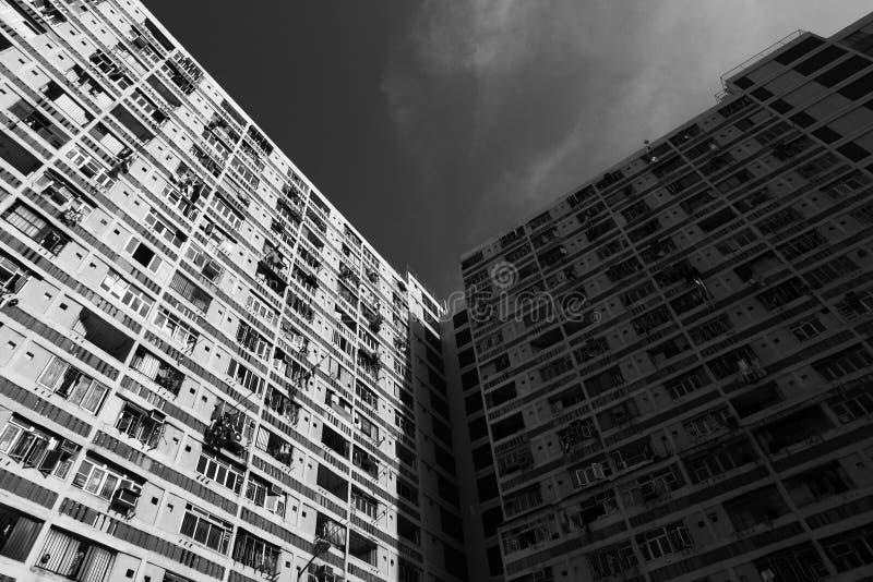 洪住房kong公共 免版税库存图片