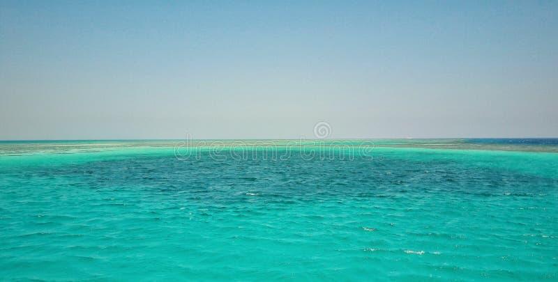 洪加达的红海 免版税库存照片