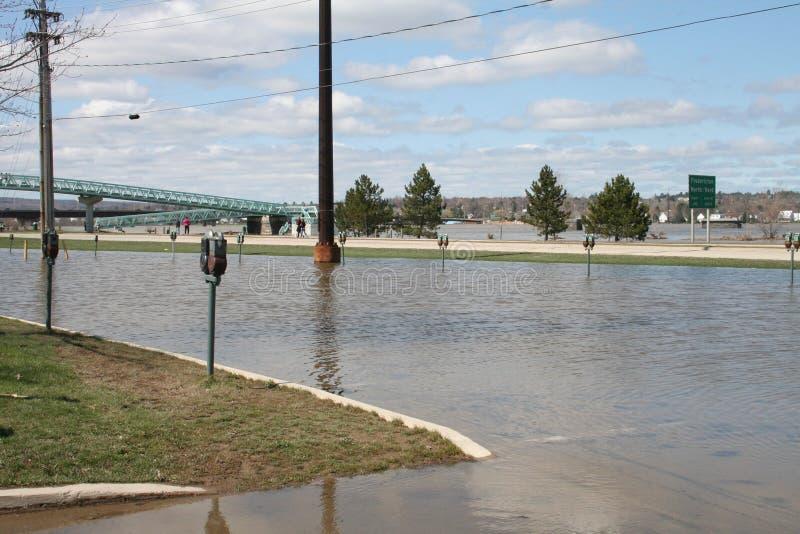 洪水弗雷德里克顿 免版税库存照片
