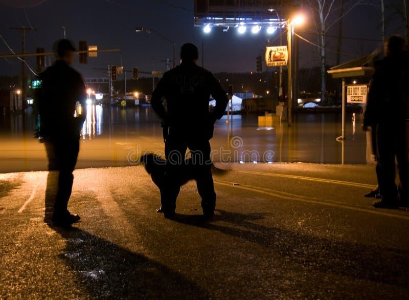 洪水晚上 免版税库存图片