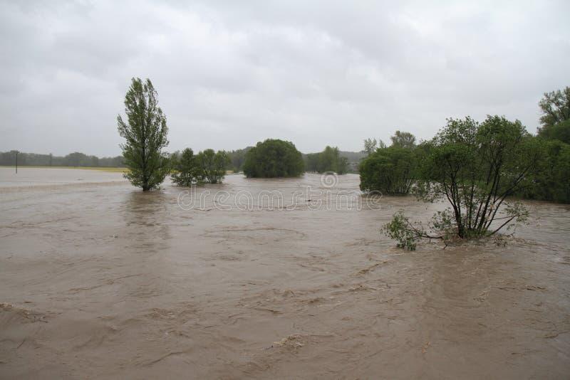 洪水河 免版税图库摄影