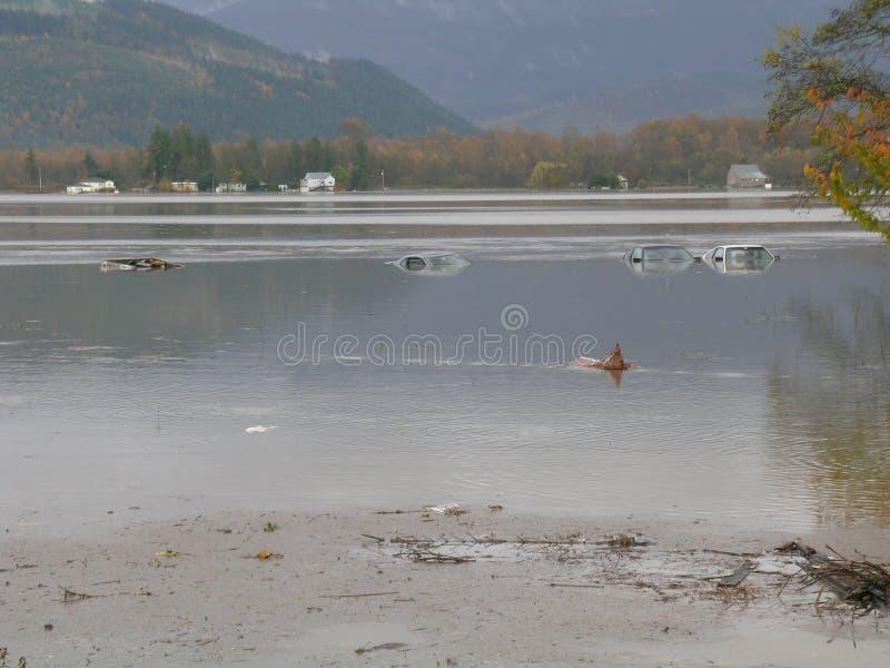 洪水状态华盛顿 免版税图库摄影